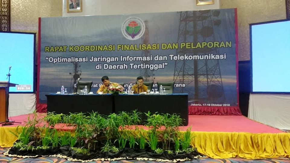 """Rapat Koordinasi Finalisasi dan Pelaporan """"Optimalisasi Jaringan Informasi dan Telekomunikasi di Daerah Tertinggal"""""""